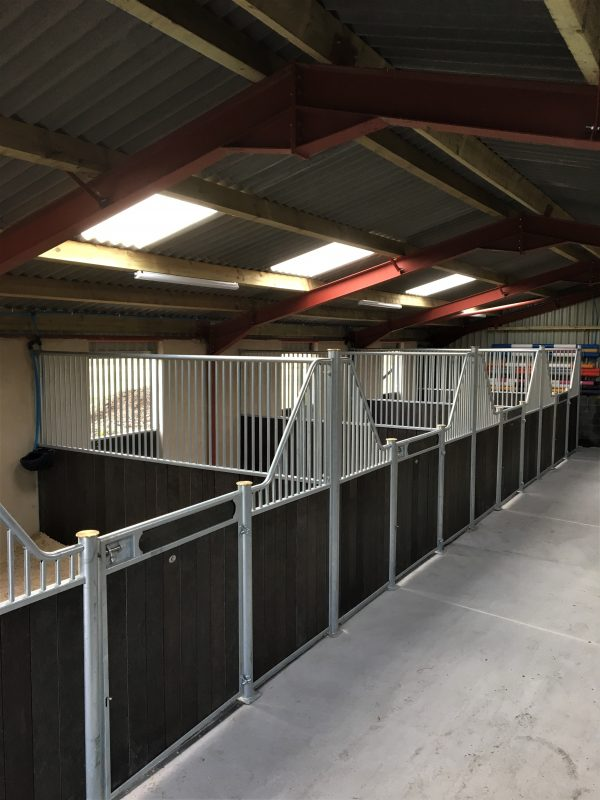 Internal Horse Stables in Fontainbleau Recycled Plastic Brown