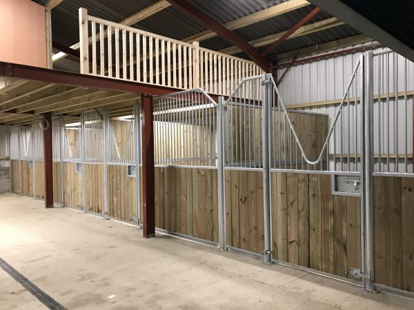 Internal horse stables V bar doors inside barn