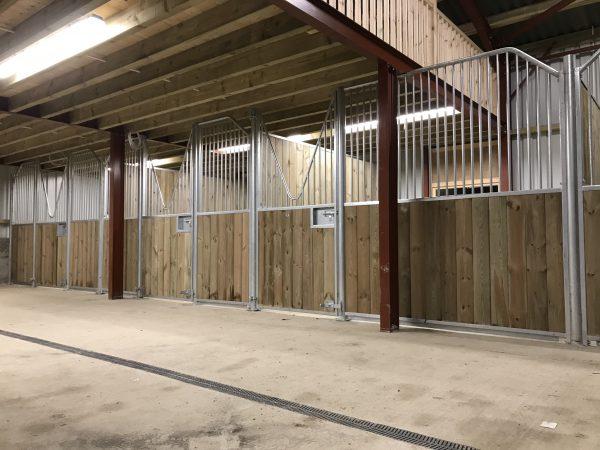 Internal stables V bar doors inside barn