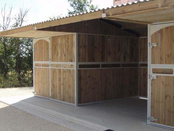 Wooden stable block