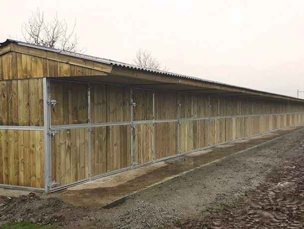 Row of Timber Stables