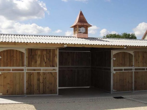 Timber stables with clock tower