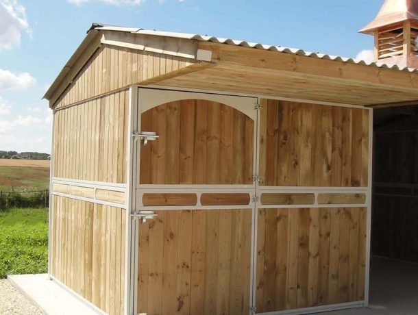 custom built timber stables