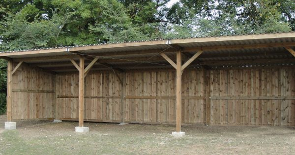 Large horse field shelter