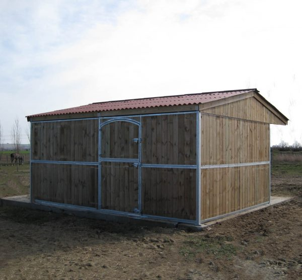 Timber Horse Stable from behind